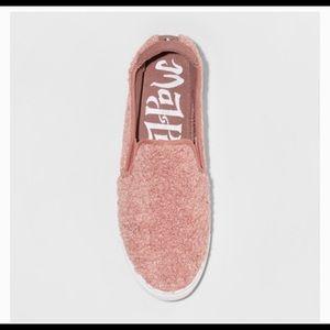 Mad Love Kam Fuzzy Sherpa Casual Sneaker